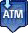 Signifies an ATM on the map that takes deposits